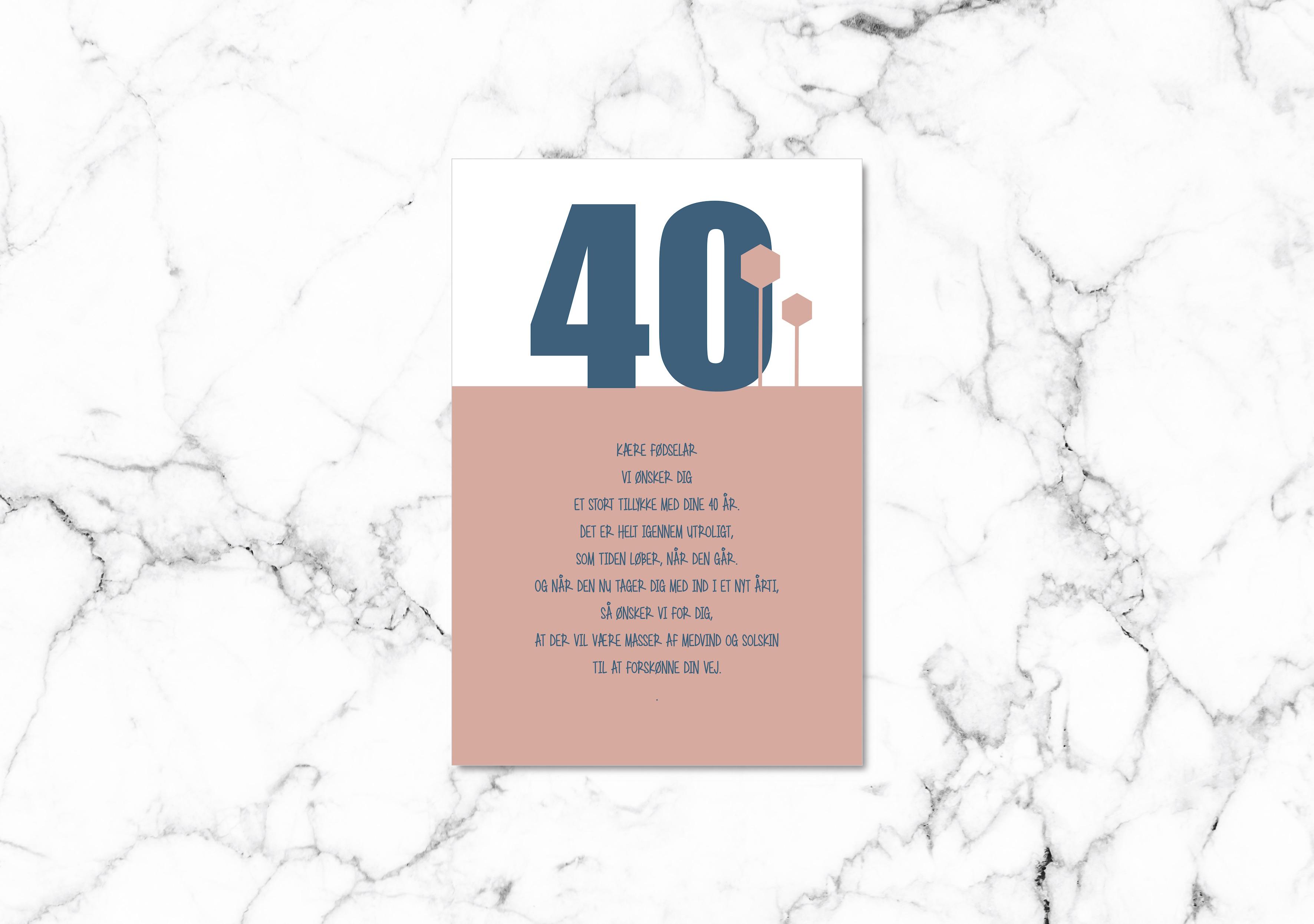 Ønsker til 50 års fødselsdag