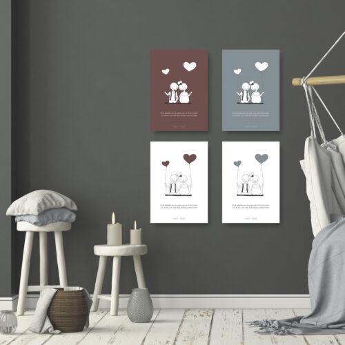 Dit hjerte banker kort plakat NorgaardNorgaard