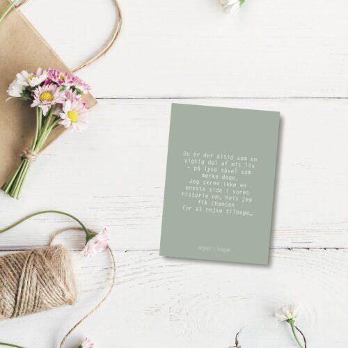 Du er der - farvet postkort nørgaardnørgaard