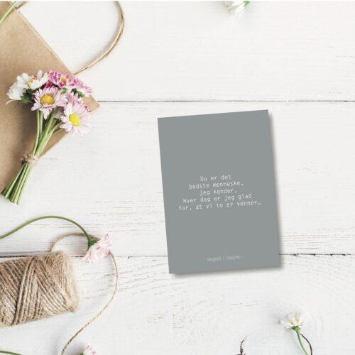 Du er det bedste menneske - farvet postkort nørgaardnørgaard