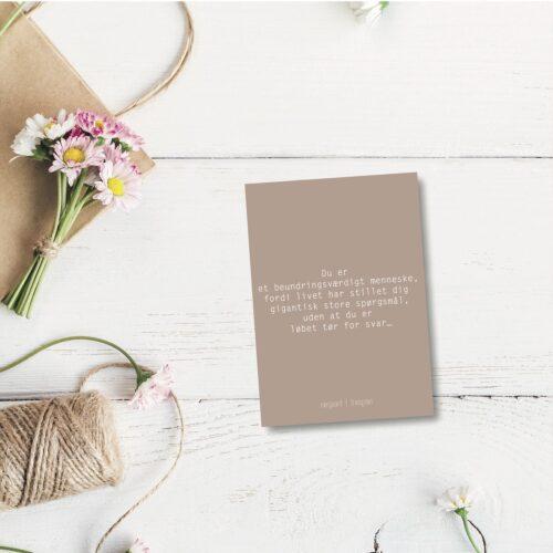 Du er et beundringsværdigt - farvet postkort nørgaardnørgaard
