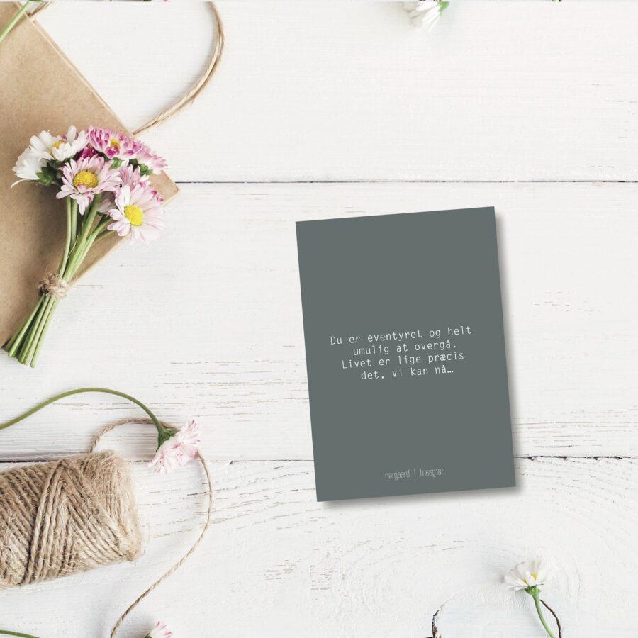Du er eventyret - farvet postkort nørgaardnørgaard