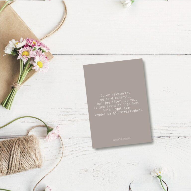 Du er helhjertet - farvet postkort nørgaardnørgaard