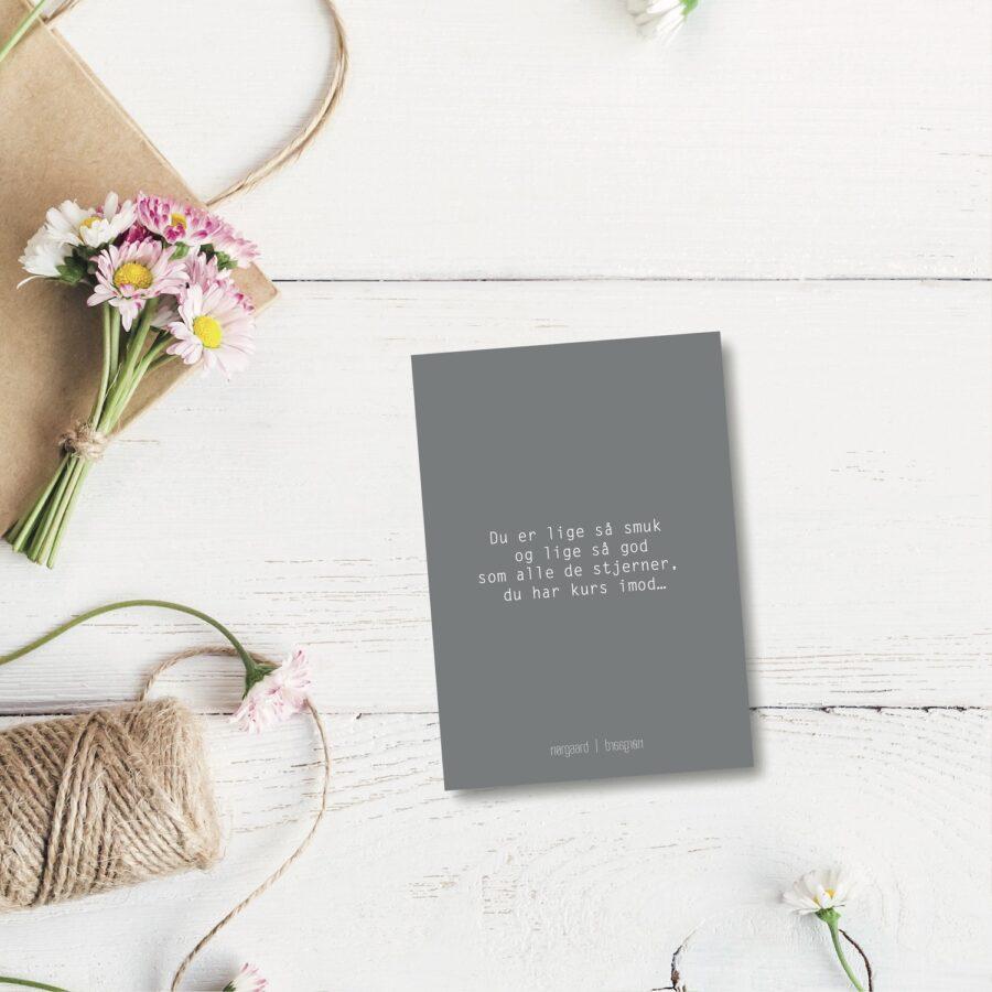 Du er lige så smuk - farvet postkort nørgaardnørgaard