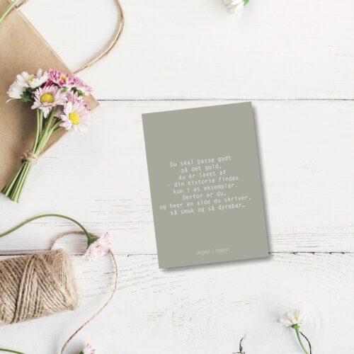 Du skal passe godt - farvet postkort nørgaardnørgaard