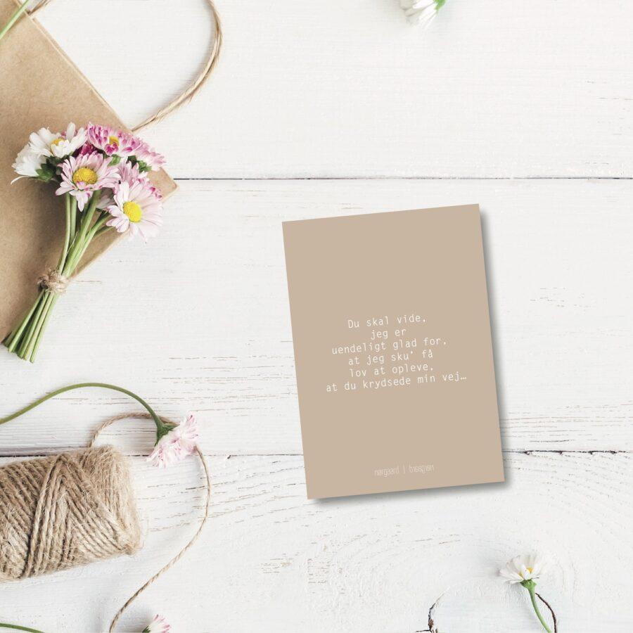 Du skal vide - farvet postkort nørgaardnørgaard