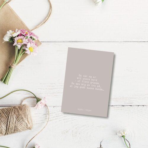Du var og er - farvet postkort nørgaardnørgaard