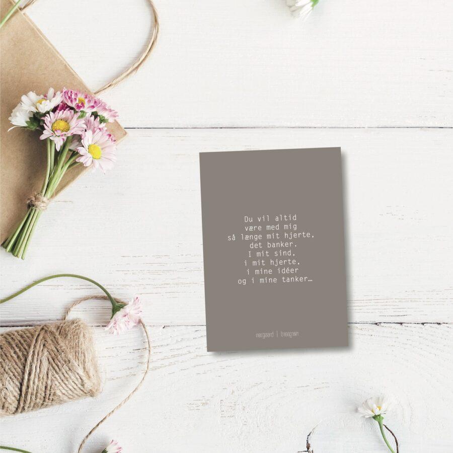 Du vil altid - farvet postkort nørgaardnørgaard