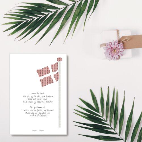 Flagstang foedselsdagskort NorgaardNorgaard