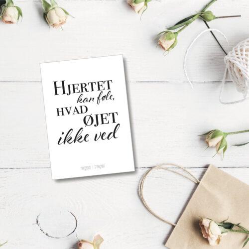 Hjertet kan foele postkort NorgaardNorgaard