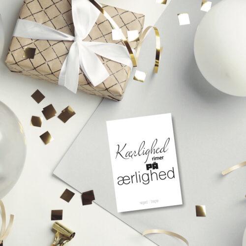 Kaerlighed rimer paa postkort NorgaardNorgaard
