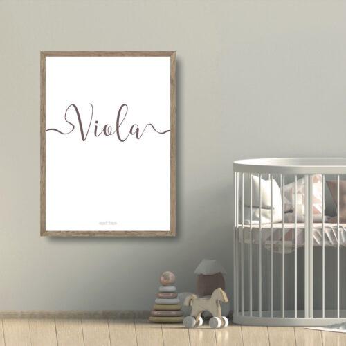 Viola navneplakat NorgaardNorgaard