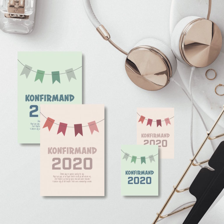 2020 konfirmationskort NorgaardNorgaard