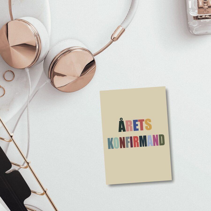 Årets konfirmand - farverig - konfirmationskort nørgaardnørgaard