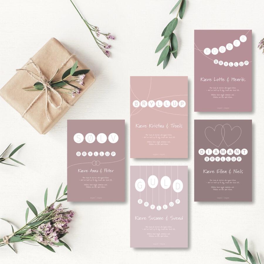 Bryllupper - personligt kort NorgaardNorgaard