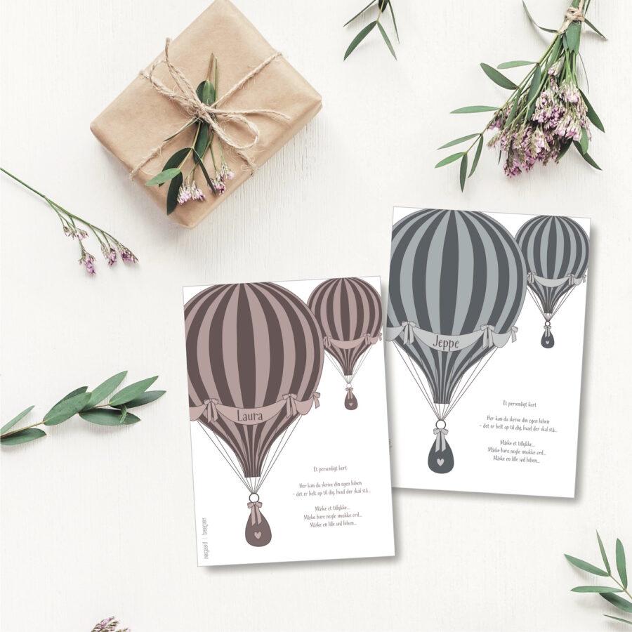 Luftballon - personligt kort NorgaardNorgaard