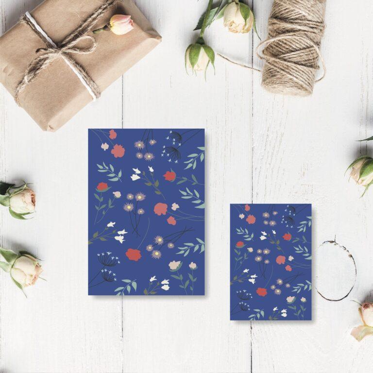 Blomsterflor blå kort nørgaardnørgaard