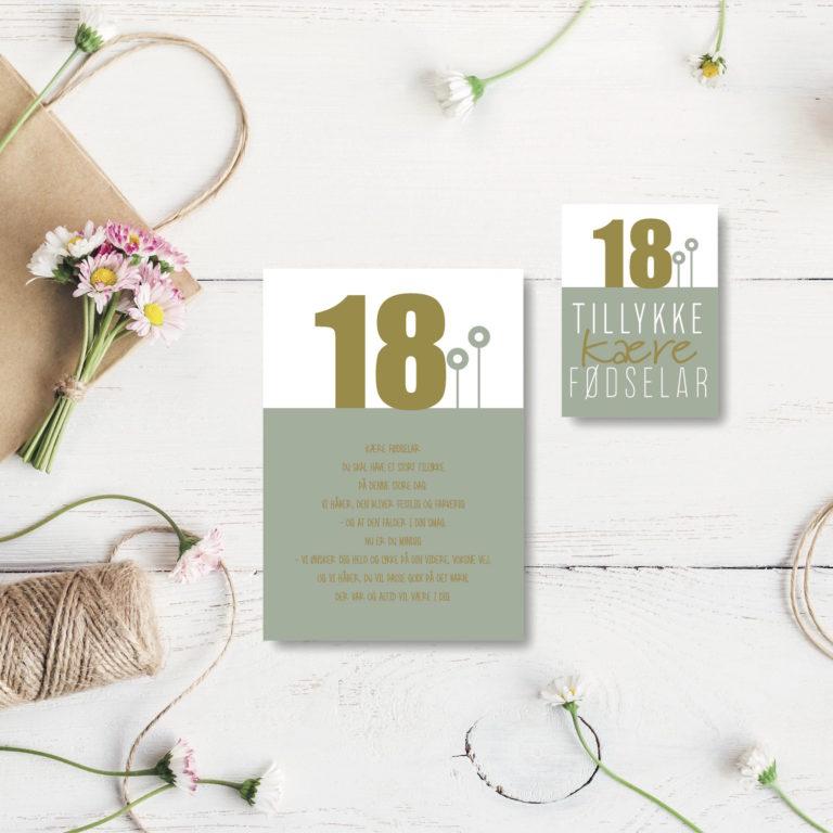 18 aar foedselsdagskort NorgaardNorgaard