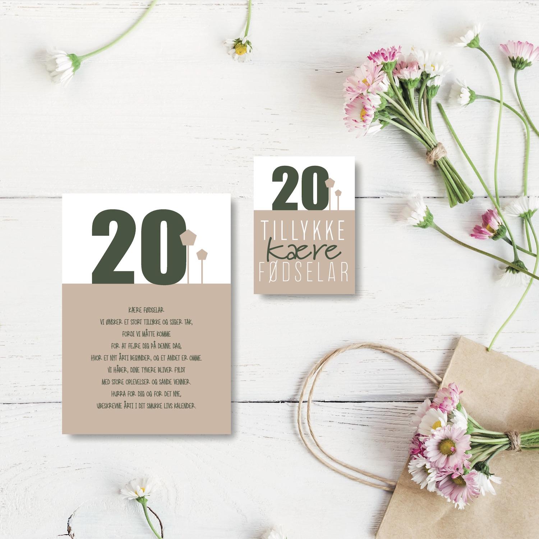 År fødselsdag 20 Rose gold