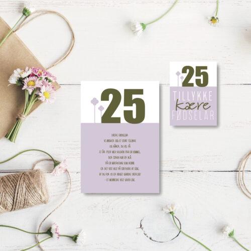 25 aar foedselsdagskort NorgaardNorgaard