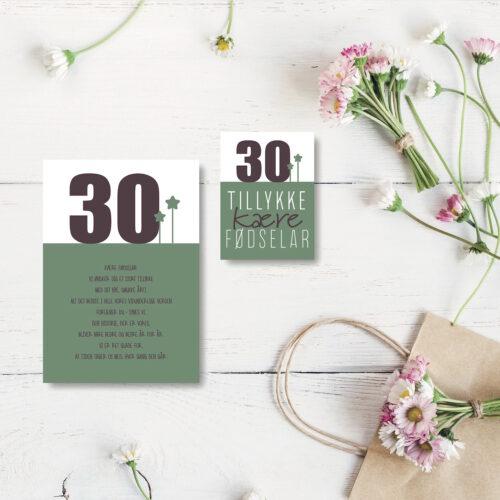 30 aar foedselsdagskort NorgaardNorgaard