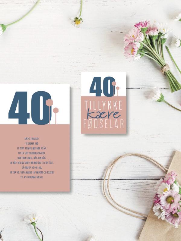 40 aar foedselsdagskort NorgaardNorgaard