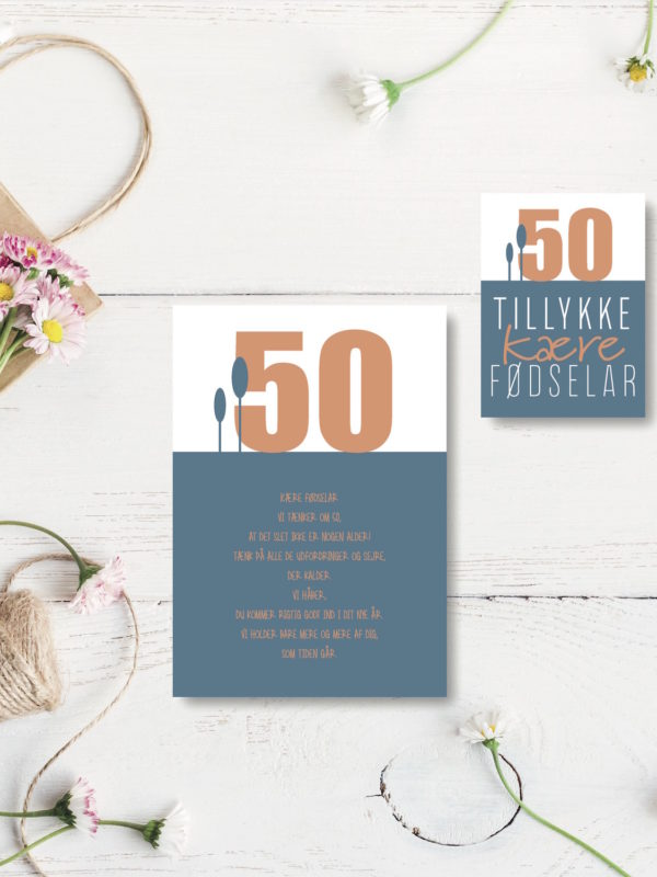 50 aar foedselsdagskort NorgaardNorgaard