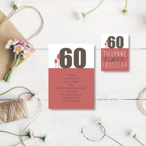 60 aar foedselsdagskort NorgaardNorgaard