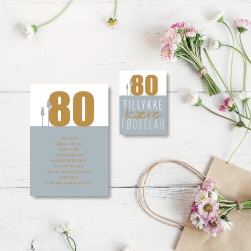 80 aar foedselsdagskort NorgaardNorgaard