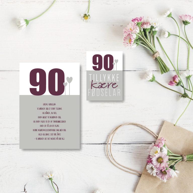 90 aar foedselsdagskort NorgaardNorgaard