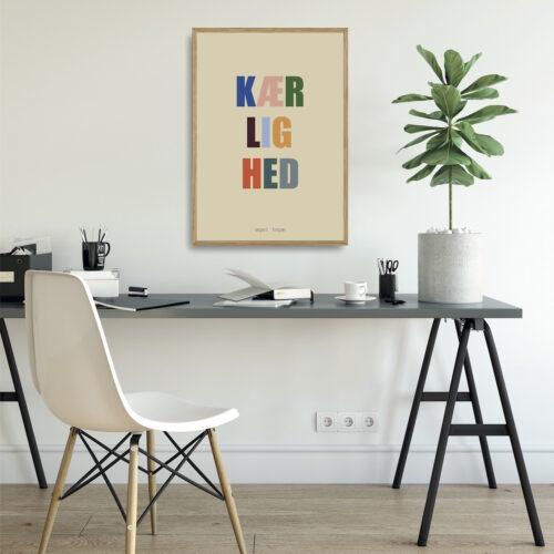 Kaerlighed multifarvet plakat NorgaardNorgaard