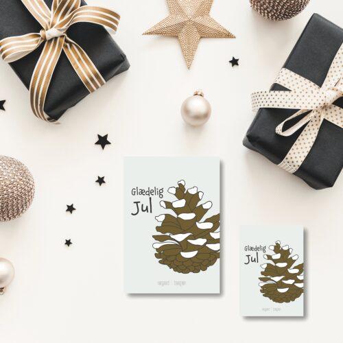 Julekogle julekort norgaardnorgaard