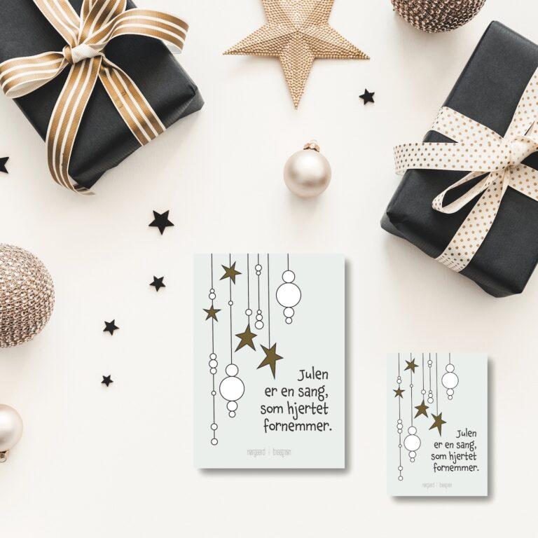 Julepynt julekort NorgaardNorgaard
