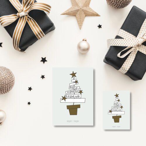 Stjernepynt julekort NorgaardNorgaard