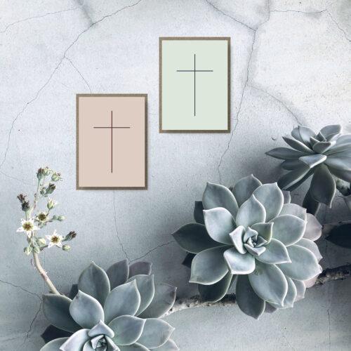 Korset - kondolencekort NorgaardNorgaard