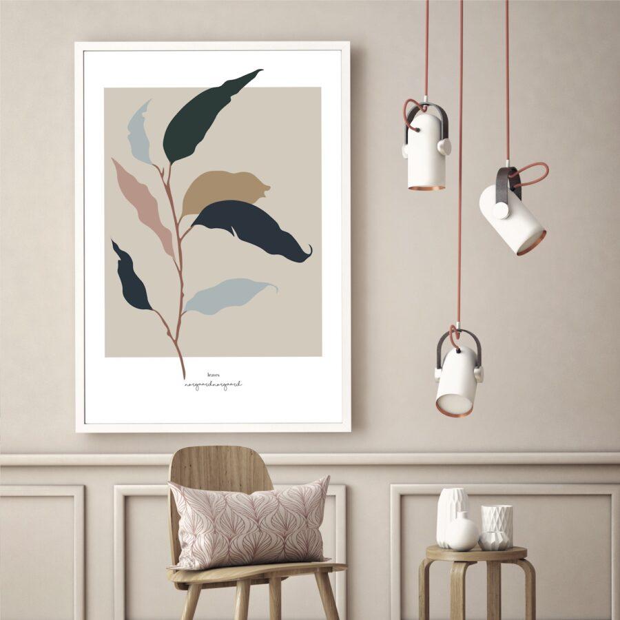 Leaves plakat NorgaardNorgaard