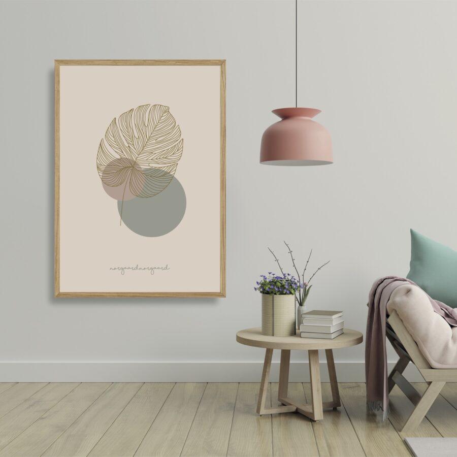 Fingerphilodendron plakat NorgaardNorgaard