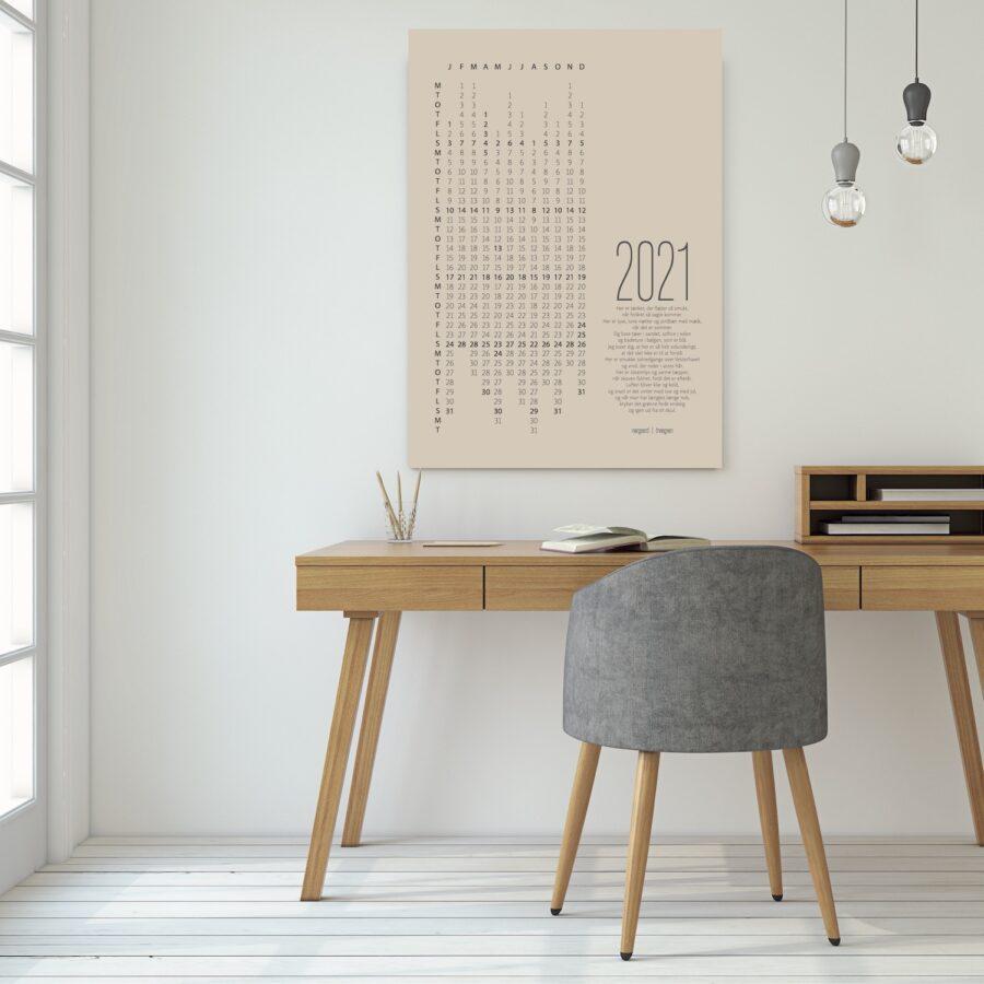 2021 kalender uden ramme plakat NørgaardNørgaard