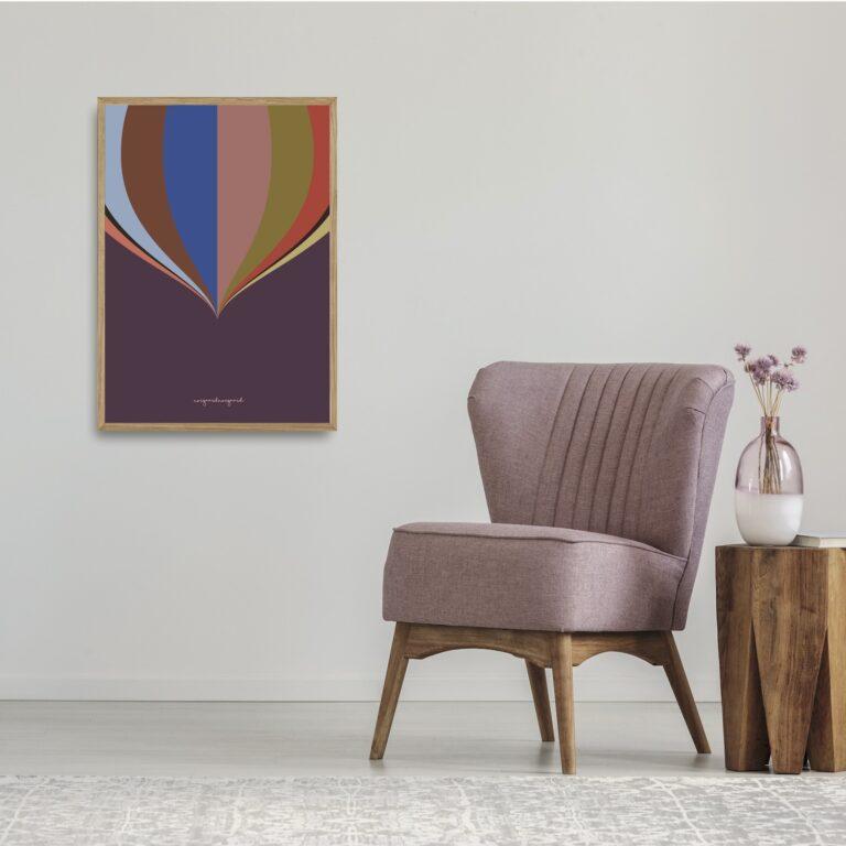 Cirkus lilla plakat nørgaardnørgaard