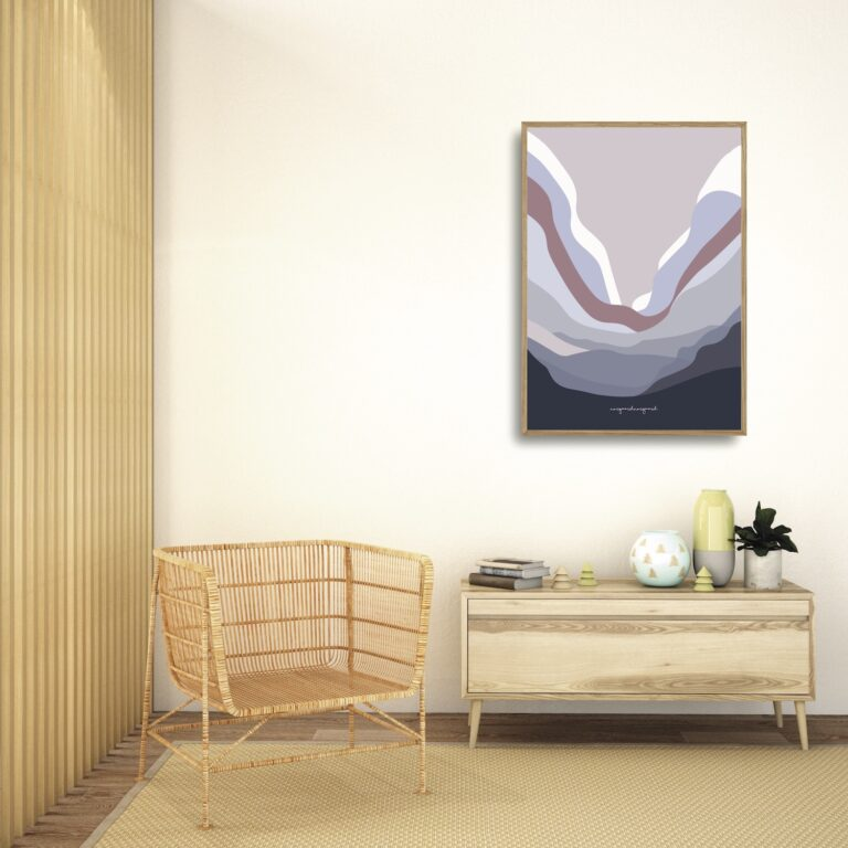 Bølgen lilla plakat nørgaardnørgaard