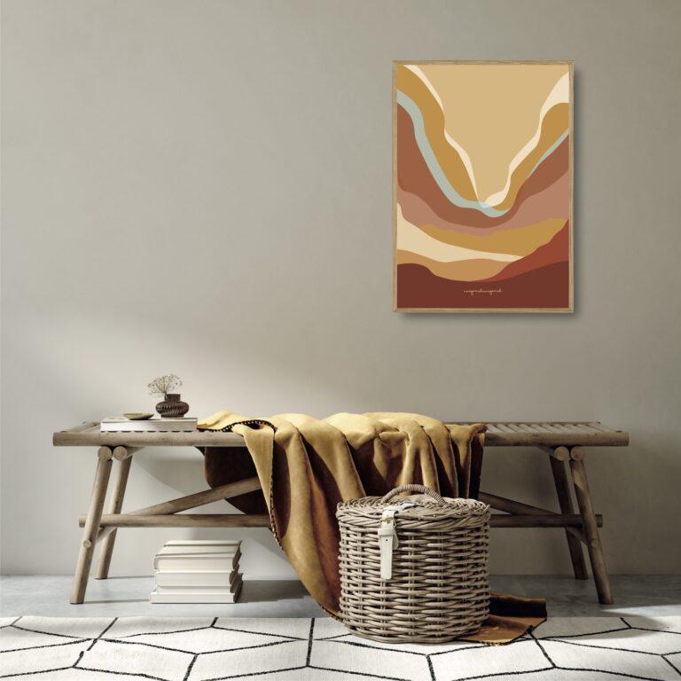 Bølgen orange plakat nørgaardnørgaard
