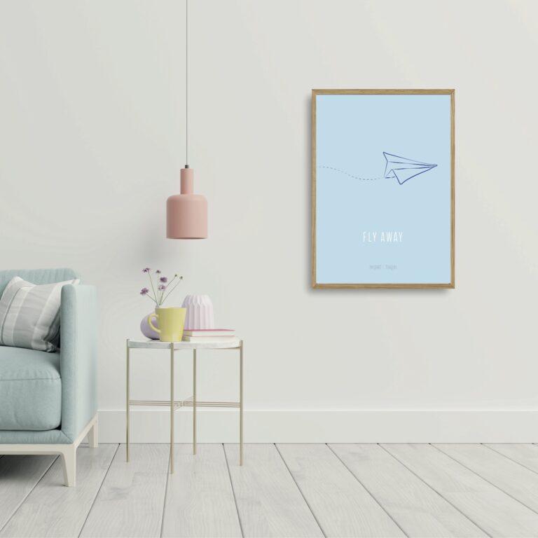 Fly away plakat nørgaardnørgaard