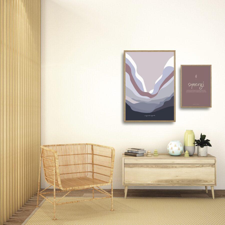 Bølgen lilla synergi plakater et smukt par nørgaardnørgaard