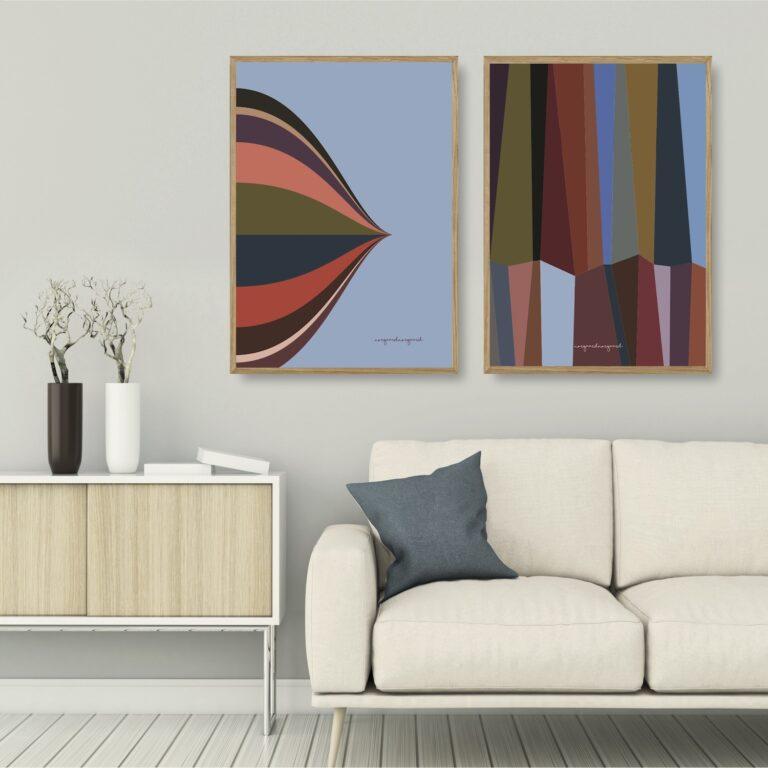 Cirkus Himmelblå - grafik no 8 plakater et smukt par nørgaardnørgaard