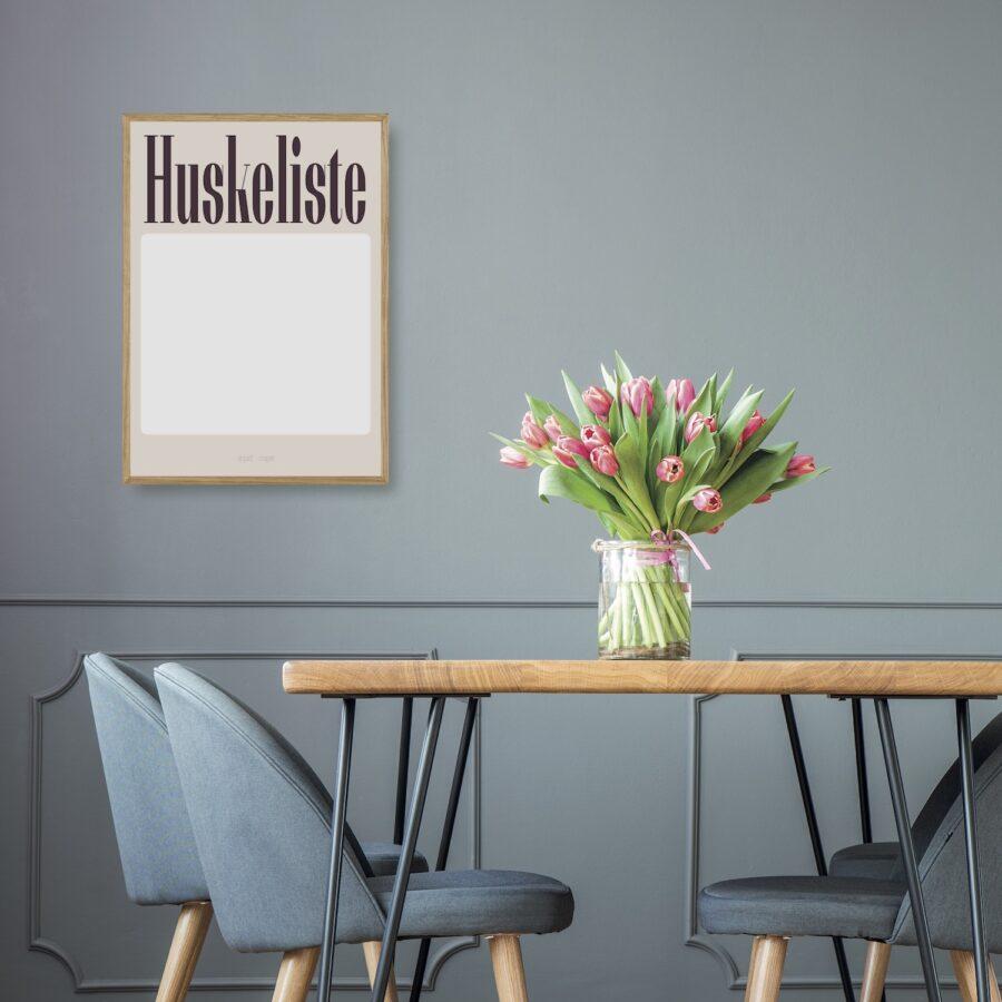 Huskeliste lyserød planner plakat nørgaardnørgaard