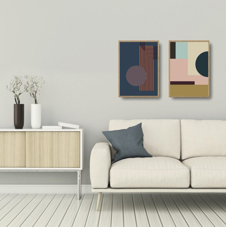Kunstprint I og IIII plakater et smukt par nørgaardnørgaard