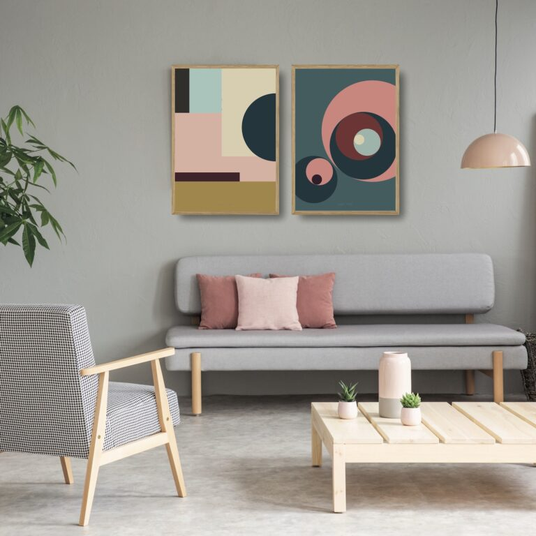 Kunstprint IIII og III plakater et smukt par nørgaardnørgaard