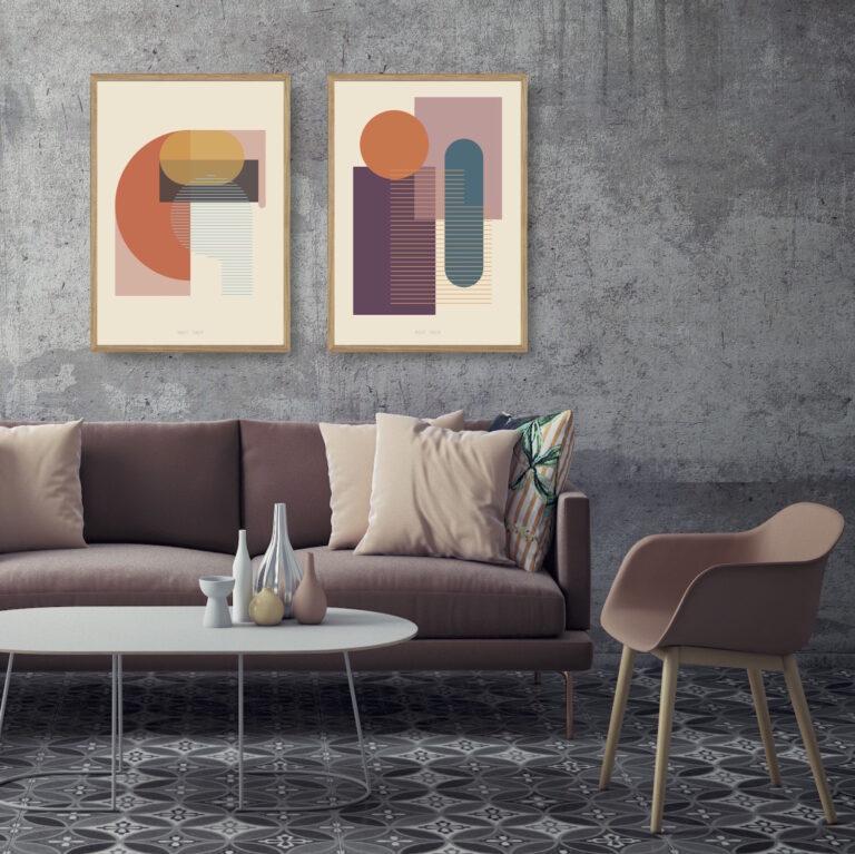 Kunstprint IV og V plakater et smukt par nørgaardnørgaard