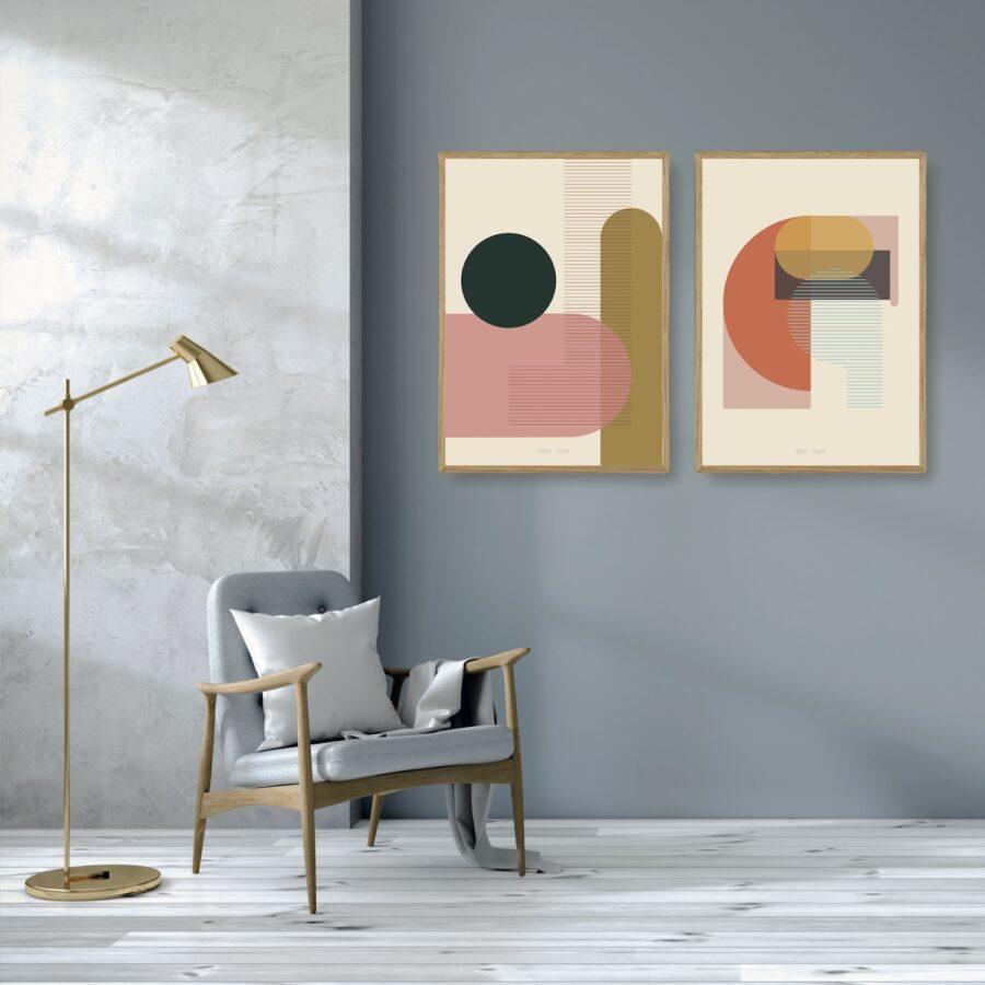 Kunstprint VI og IV plakater et smukt par nørgaardnørgaard