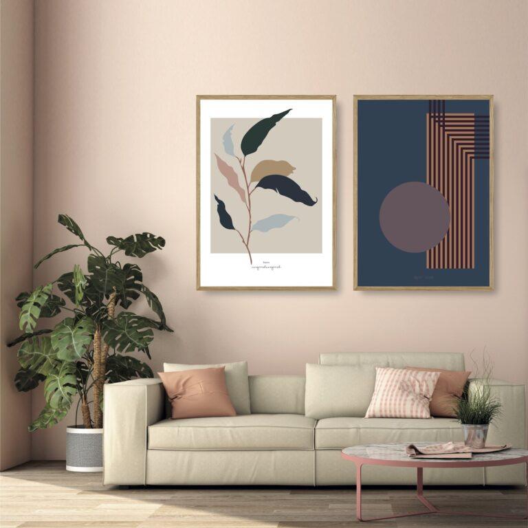 Leaves - kunstprint I plakater et smukt par nørgaardnørgaard